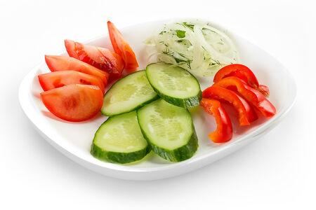 Салат Нарезка из свежих овощей