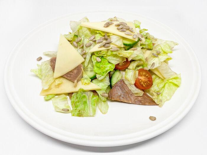 Салат Зеленый с говяжьим языком