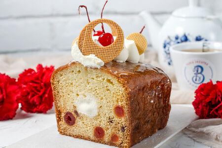 Кекс Творожный с вишневыми цукатами