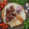 Фото к позиции меню Шашлык из говяжьей печени