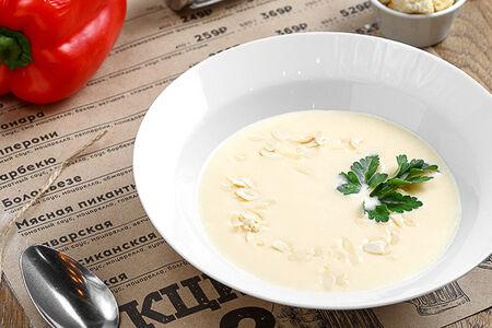 Крем-суп сырный с сухариками