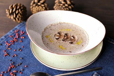 Грибной крем-суп Лесной