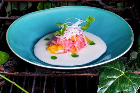 Севиче из тунца с манго