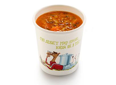 Чечевичный суп в индийском стиле