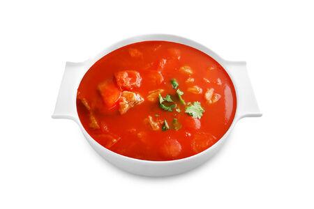 Томатный суп с говядиной