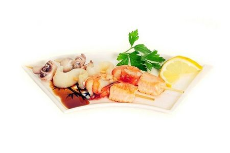 Шашлык на шпажке Ассорти из морепродуктов