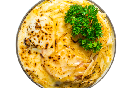 Гратен картофельный с мясом