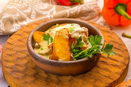 Картофель под сыром сулугуни