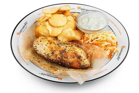 Стейк куриный в пергаменте жареный картофель