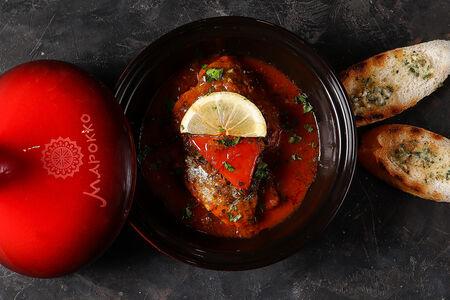 Дорада с овощами по-мароккански