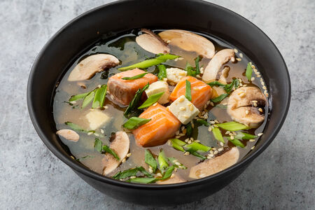 Мисо суп с форелью