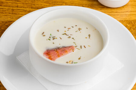 Крем-суп с сёмгой и сливками