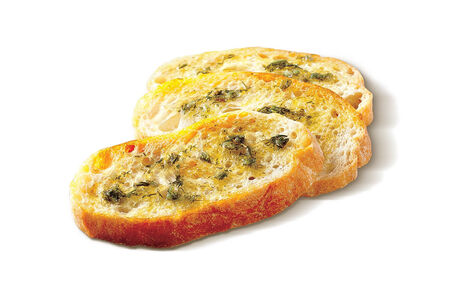 Хлеб с чесночным маслом