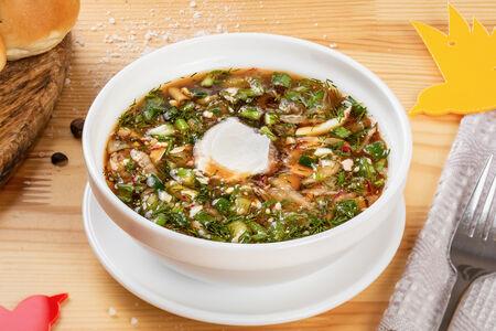 Суп Окрошка с колбасой