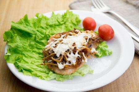Филе индейки с картофелем гратен