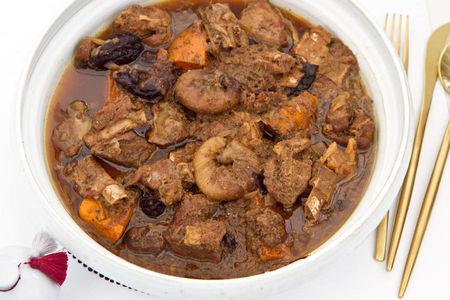 Тажин из баранины с бататом и инжиром (большой)
