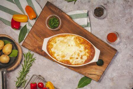 Треска, запеченная с картофелем