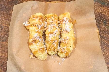 Жареные бананы с карамелью