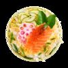 Фото к позиции меню Тираси-дзуси с лососем