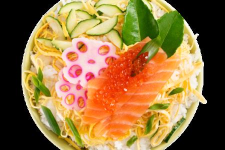 Тираси-дзуси с лососем