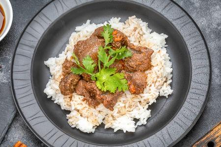 Рис с томленой говядиной