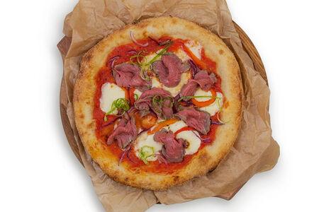 Пицца с ростбифом и перцем