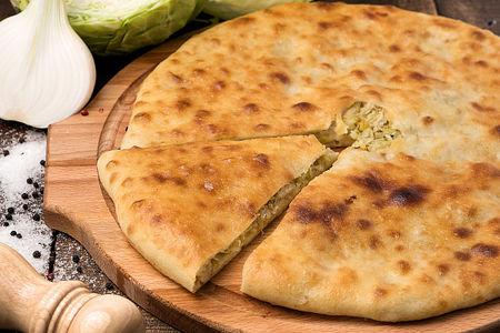 Осетинский пирог с капустой и сыром Къабускаджын