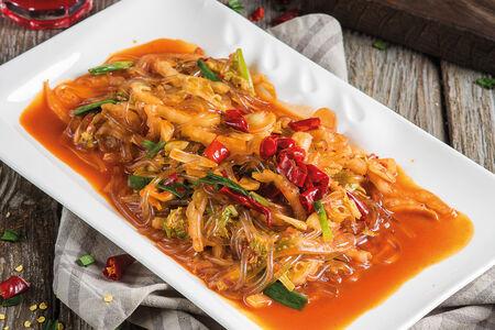 Корейская капуста с фунчозой