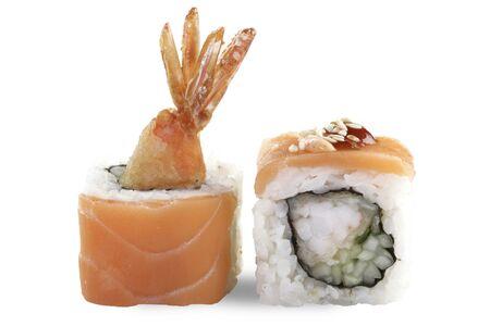 Тери Маки с лососем и креветкой