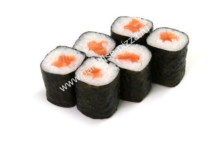 Ролл с копченым лососем