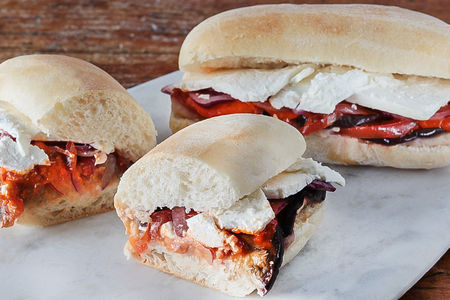 Овощной сэндвич на чиабатте