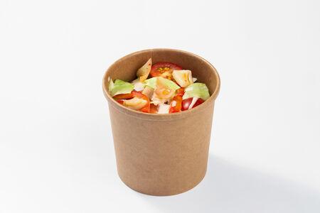 Салат с кальмаром в кимчи