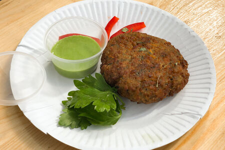 Шпинатно-овощная котлетка