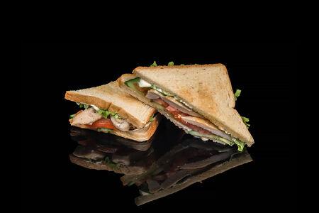 Сэндвич с обжаренной курочкой
