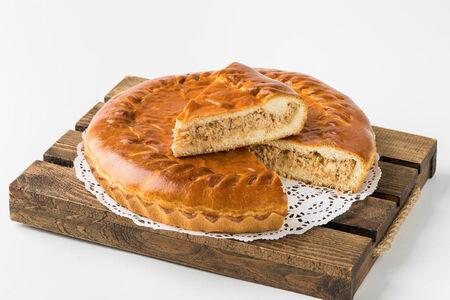 Пирог с капустой и горбушей