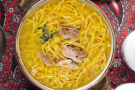 Куриный домашний суп