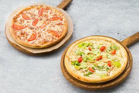 Пицца Маргарита и Пицца Цезарь