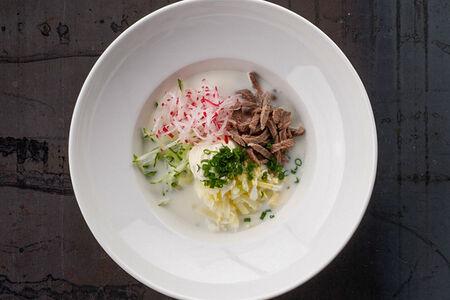 Суп Холодный Окрошка с нежной говядиной на кефире