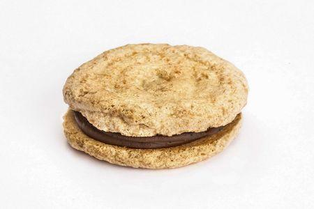Миндальное печенье с кофейным шоколадом