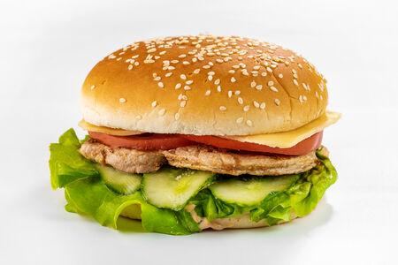 Бургер со свиным стейком