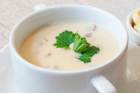 Сливочный крем-суп из лесных грибов
