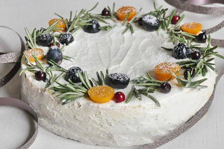 Хвойный торт-чизкейк