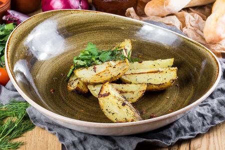 Печеный на углях картофель