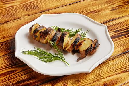 Картофель с курдюком гриль