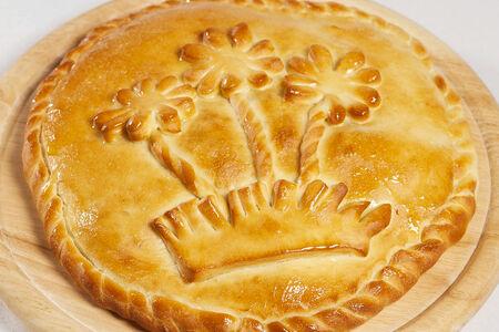 Русский домашний пирог с мясом и картофелем
