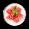 Фото к позиции меню Арбуз красный резанный кубиками