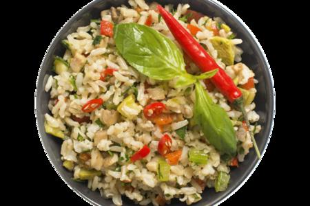 Рис коричневый с овощами