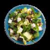 Фото к позиции меню Салат-боул из свеклы с сыром фета и листьями шпината
