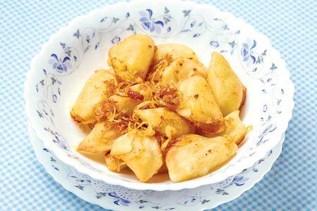 Жареные вареники с картофелем и сыром