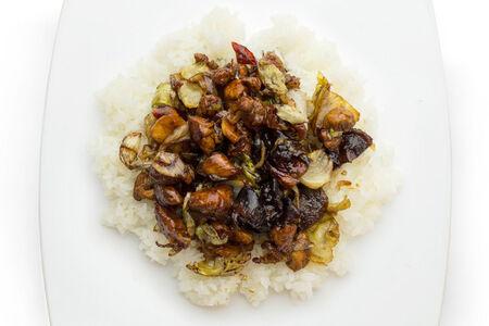 Курица шиитаки с рисом